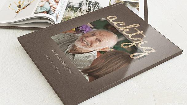 Fotobuch Geburtstag - Goldener Tag 80
