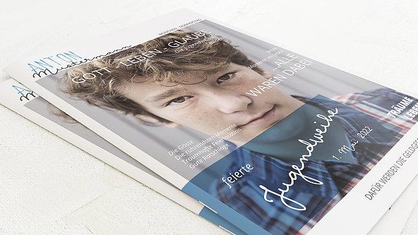 Festzeitung Jugendweihe - Portraitfoto Festschrift
