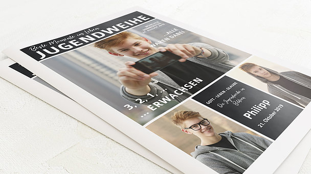 Festzeitung Jugendweihe - Gekachelt Festschrift