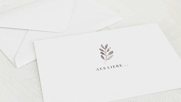 Umschlag mit Design Hochzeit - Shiny love