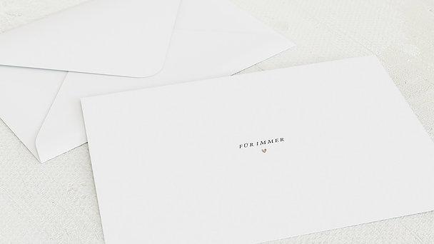 Umschlag mit Design Hochzeit - Für immer wir