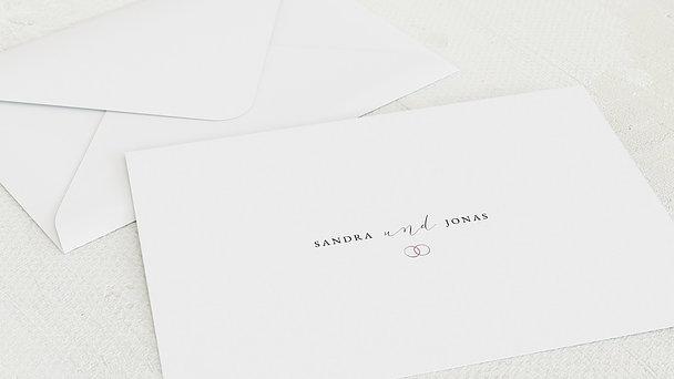 Umschlag mit Design Hochzeit - You & Me