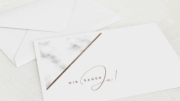Umschlag mit Design Hochzeit - Marbled corners