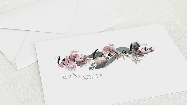 Umschlag mit Design Hochzeit - Blütenwalzer