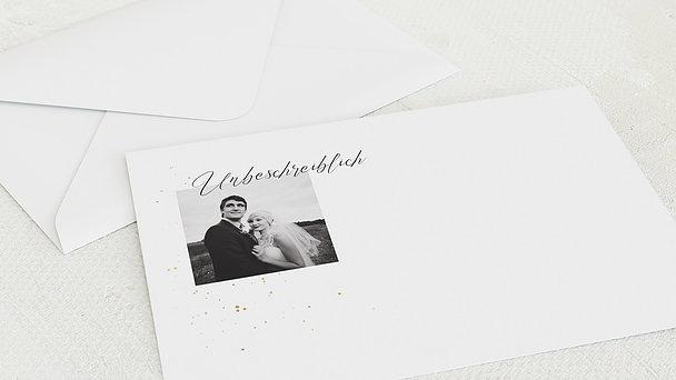 Umschlag mit Design Hochzeit - Unbeschreiblich