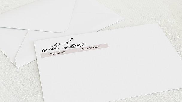 Umschlag mit Design Hochzeit - Blush of Love