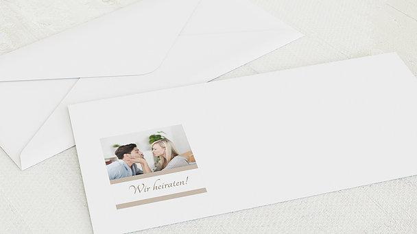Umschlag mit Design Hochzeit - Ja, ich will