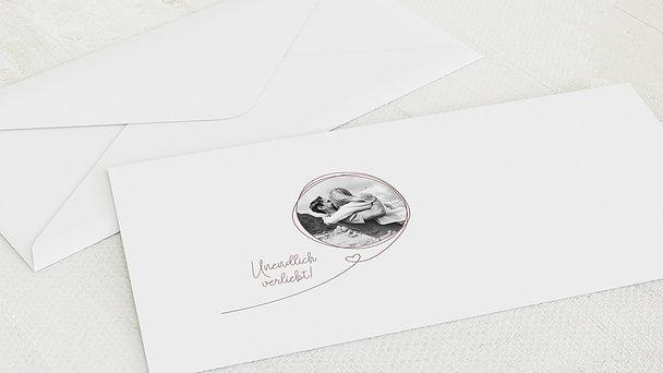 Umschlag mit Design Hochzeit - Unendlich verliebt