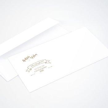 Umschlag mit Design Hochzeit - Kraftpapier