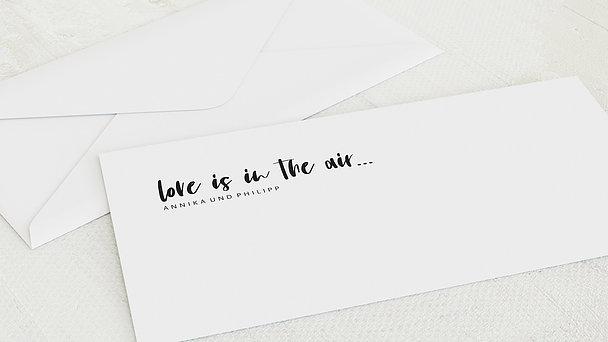 Umschlag mit Design Hochzeit - Love & Joy