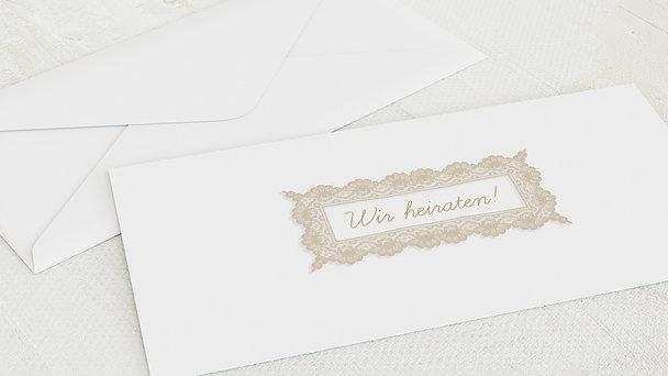 Umschlag mit Design Hochzeit - Hochzeitsspitze