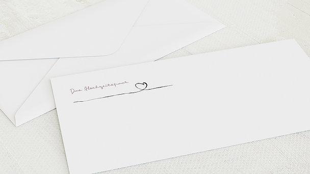 Umschlag mit Design Hochzeit - Schleifenherz