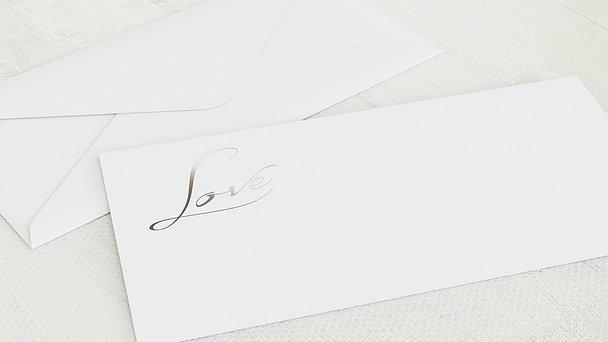 Umschlag mit Design Hochzeit - Weicher Glanz