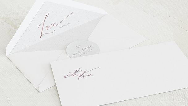 Umschlag mit Design Hochzeit - Liebesbotschaft