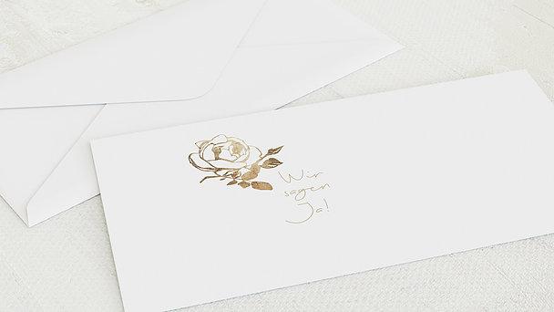 Umschlag mit Design Hochzeit - Rosenstolz