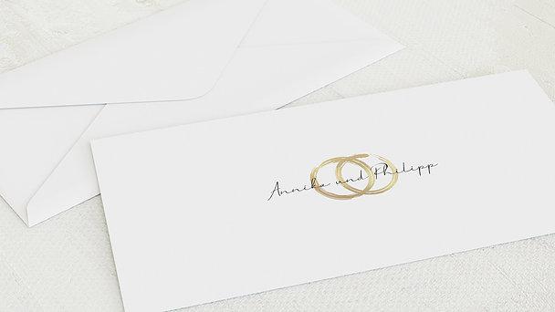 Umschlag mit Design Hochzeit - Noblesse