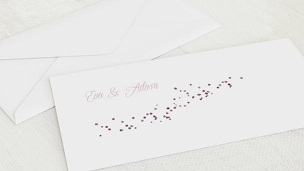 Umschlag mit Design Hochzeit - Geflitter