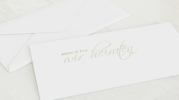 Umschlag mit Design Hochzeit - Ja!