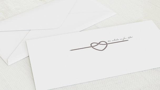 Umschlag mit Design Hochzeit - Starke Verbindung