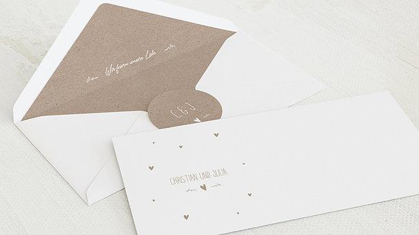 Umschlag mit Design Hochzeit - Rustique