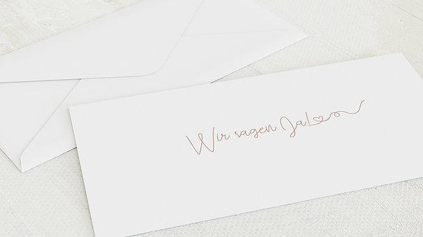 Umschlag mit Design Hochzeit - Herzflug