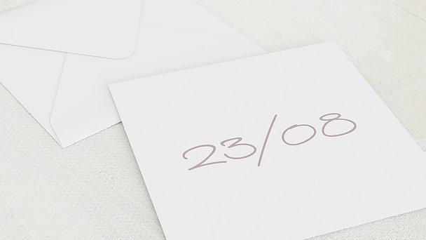 Umschlag mit Design Hochzeit - Liebestermin