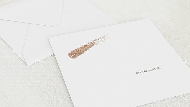 Umschlag mit Design Hochzeit - Hauch von Gold