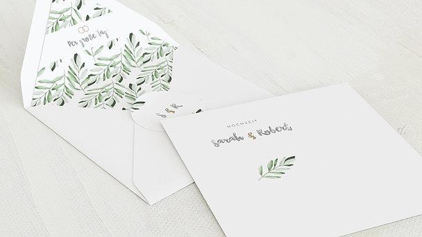 Umschlag mit Design Hochzeit - Edles Grün