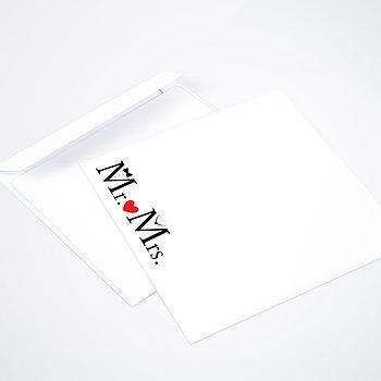 Umschlag mit Design Hochzeit - Mr & Mrs