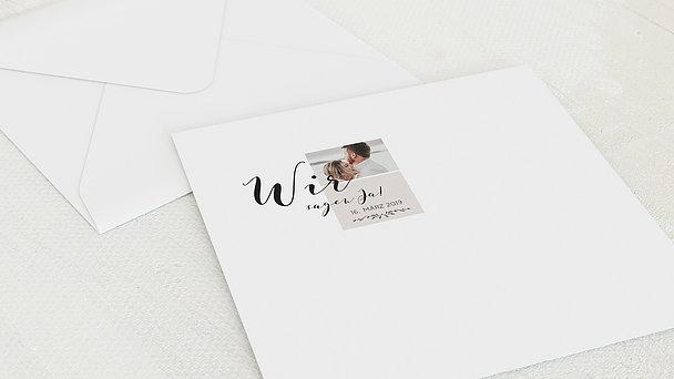 Umschlag mit Design Hochzeit - Blühende Zeit