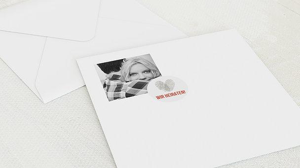 Umschlag mit Design Hochzeit - Fingerprint