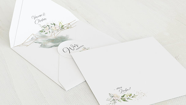 Umschlag mit Design Hochzeit - Herzliche Eleganz