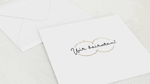 Umschlag mit Design Hochzeit - Zarte Ringe