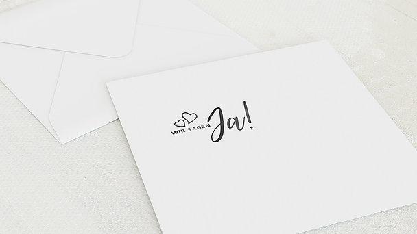 Umschlag mit Design Hochzeit - Herz & Seele