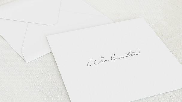 Umschlag mit Design Hochzeit - Zwei Glückskinder