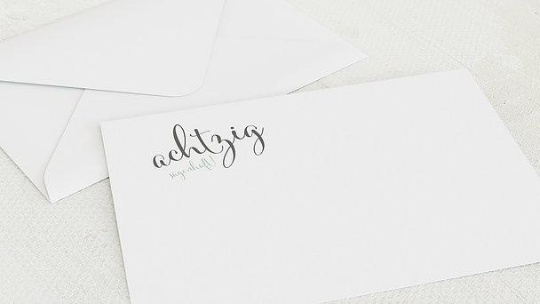 Umschlag mit Design Geburtstag - Sagenhafte Achtzig