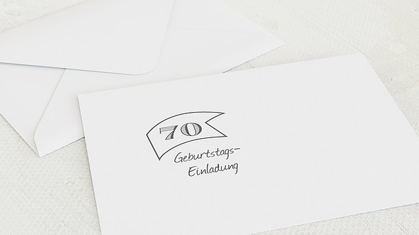 Umschlag mit Design Geburtstag - Jahrestafel 70