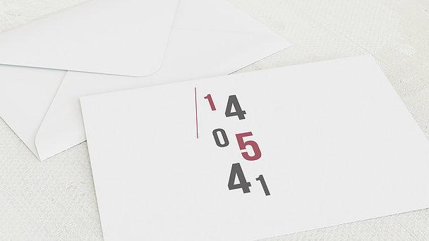 Umschlag mit Design Geburtstag - Flausen im Kopf 80