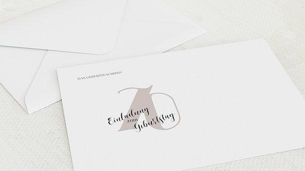 Umschlag mit Design Geburtstag - My time 70