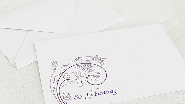 Umschlag mit Design Geburtstag - Card de Luxe 80