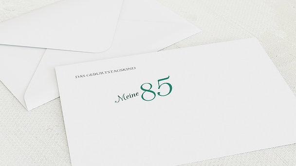 Umschlag mit Design Geburtstag - Lebensfreude 85