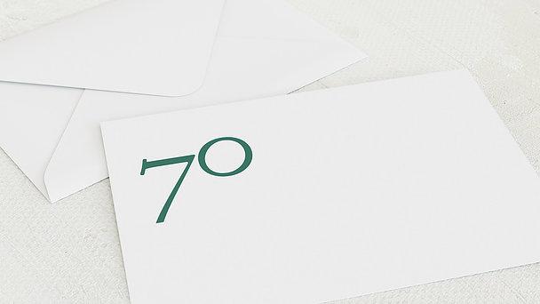 Umschlag mit Design Geburtstag - Meine Siebzig