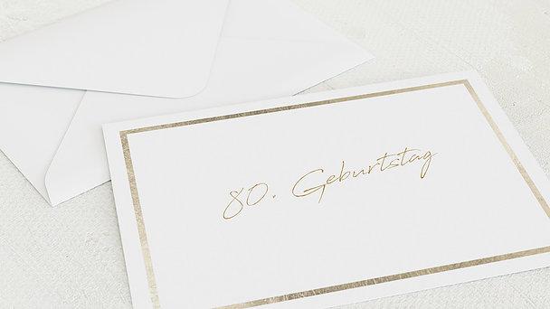 Umschlag mit Design Geburtstag - Moment des Glücks 80