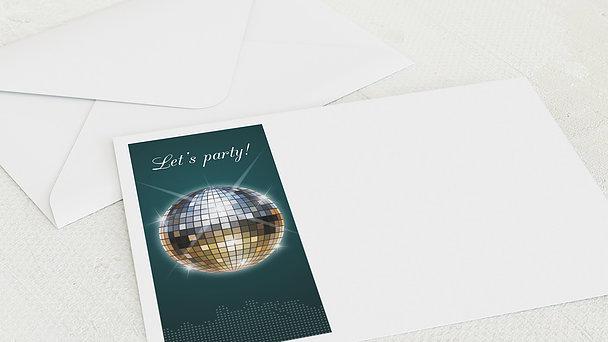 Umschlag mit Design Geburtstag - Discokugel