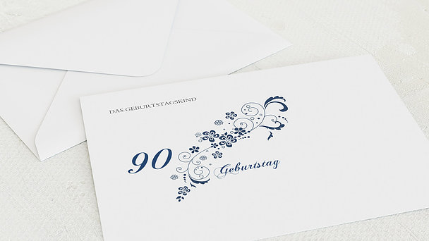 Umschlag mit Design Geburtstag - Blütenkarte mit Foto 90