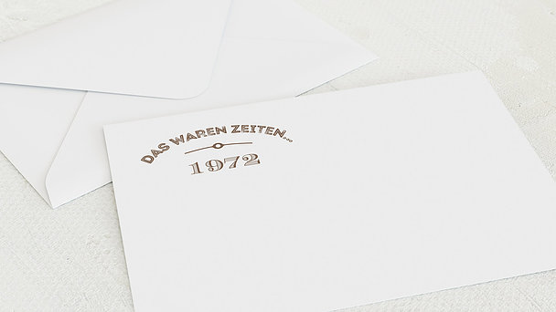 Umschlag mit Design Geburtstag - Alte Zeiten 50