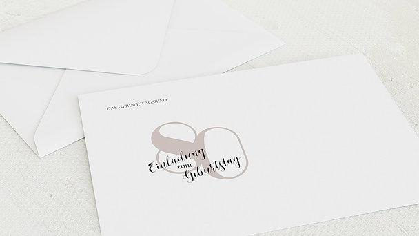 Umschlag mit Design Geburtstag - My time 80