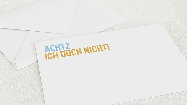 Umschlag mit Design Geburtstag - Achtzich