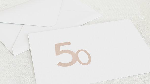 Umschlag mit Design Geburtstag - Tolle Nummer 50