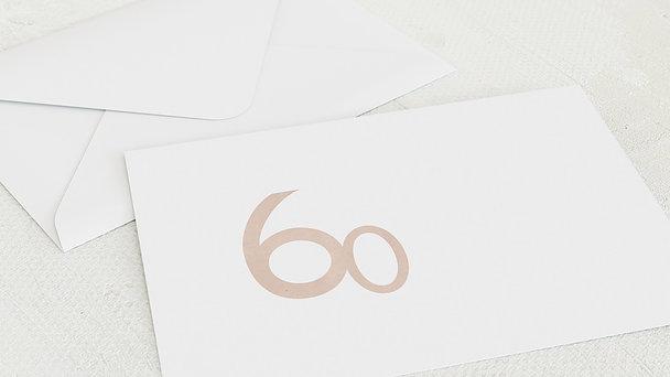 Umschlag mit Design Geburtstag - Tolle Nummer 60